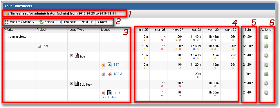 timesheet icon. View Timesheet Details