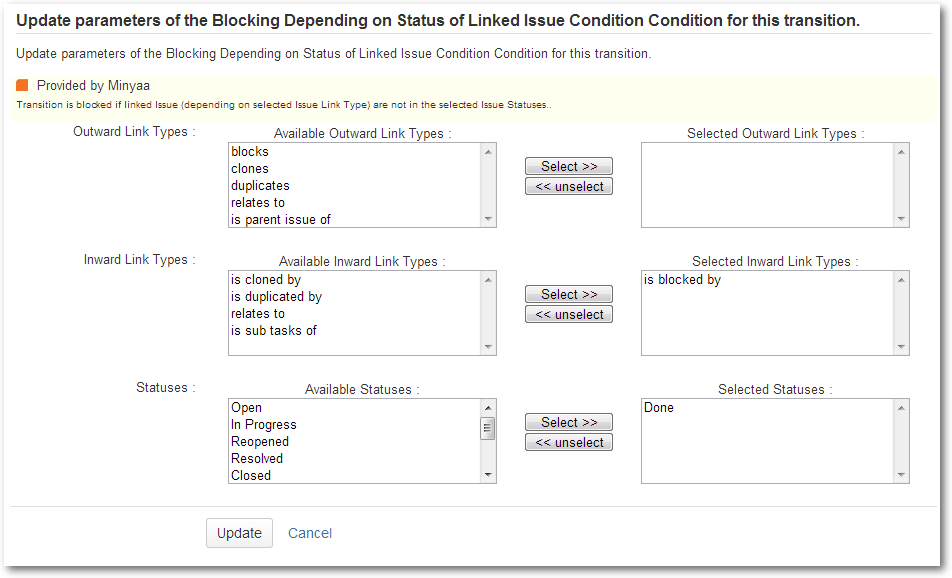 Blocking On Linked Issue Status