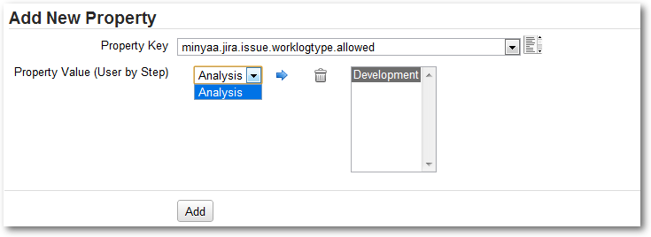 Editor for Worklog Type Meta-Attribute